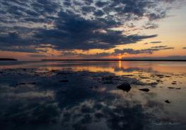 Couché de soleil sur le fleuve (Rimouski)